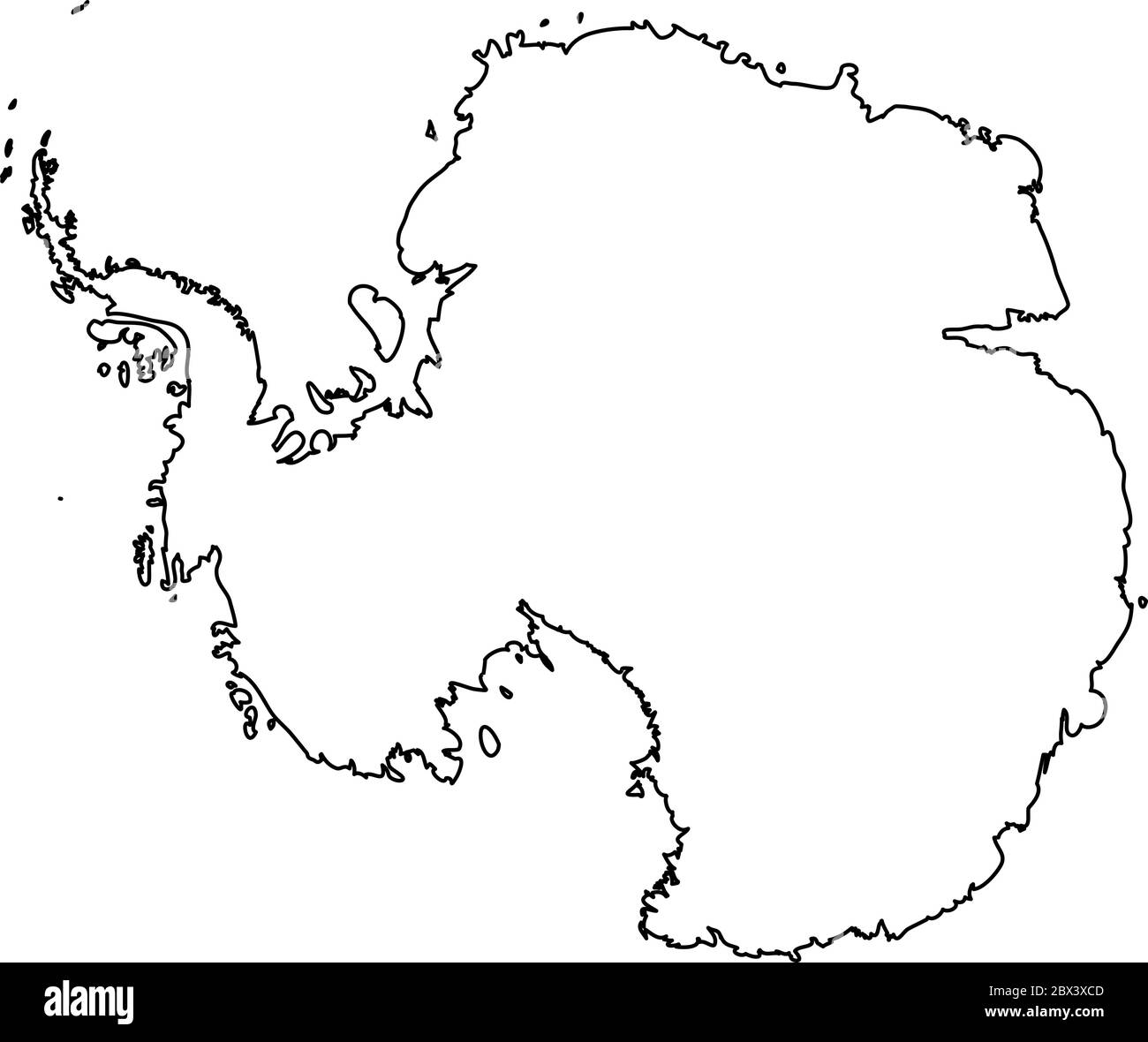 outline map of antarctica continent Antarctica Map High Resolution Stock Photography And Images Alamy outline map of antarctica continent