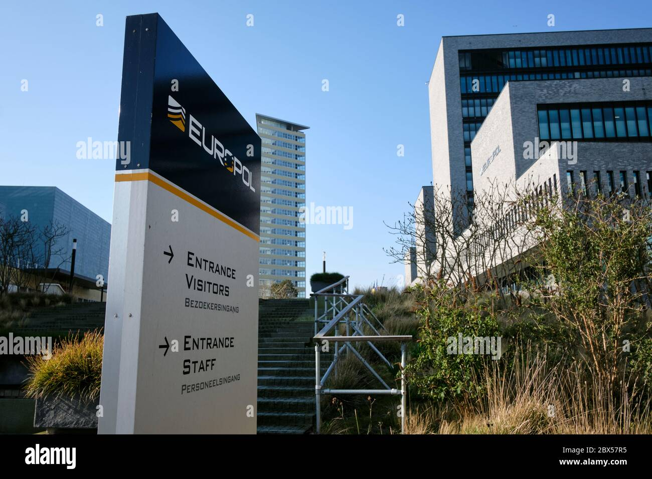 Europol headquarters, the law enforcement agency of the European Union Stock Photo