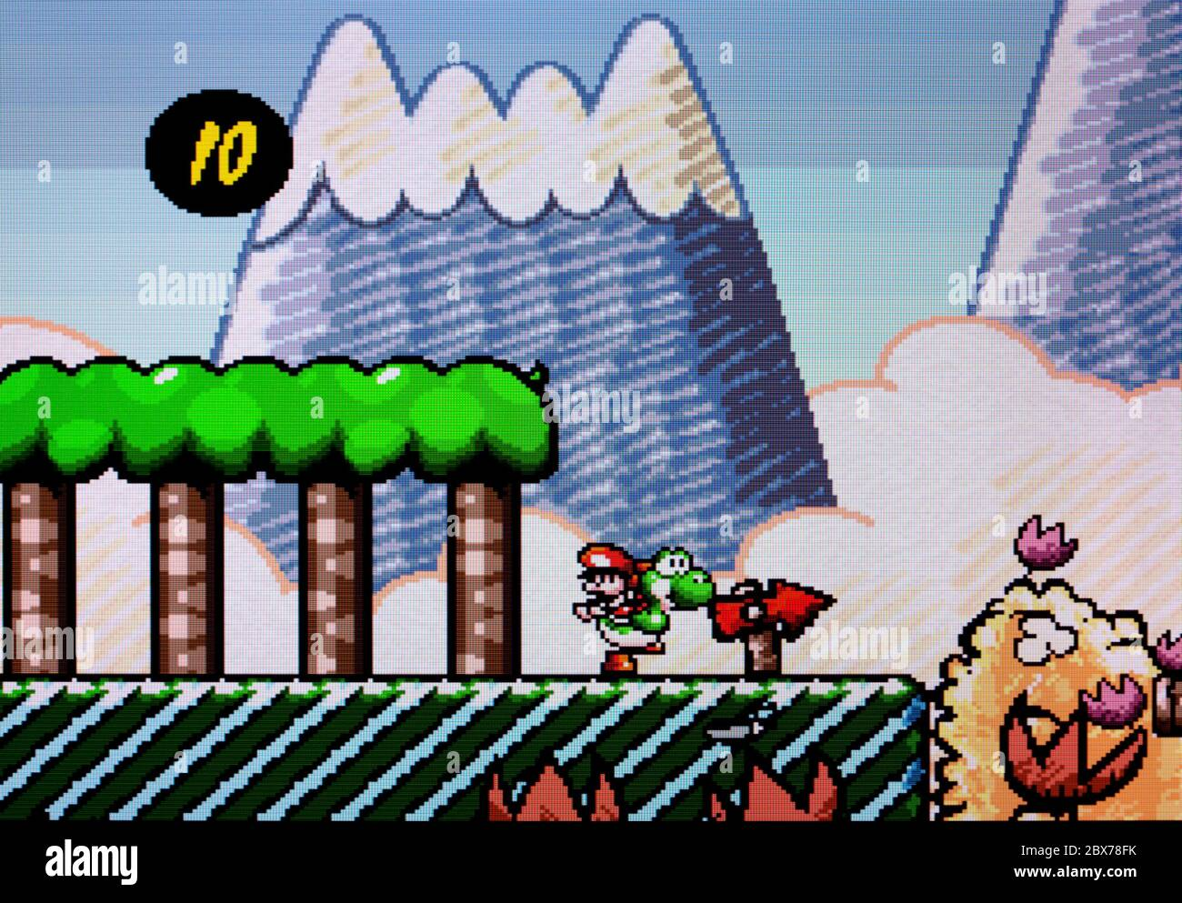 super mario world 2 yoshi s island snes Super Mario World 2 Yoshi's Island - SNES Super Nintendo - Editorial use  only Stock Photo - Alamy