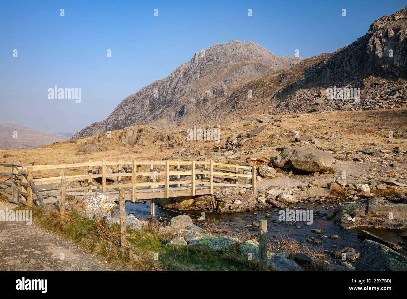 Tryfan Mountain, Snowdonia, North Wales Stock Photo
