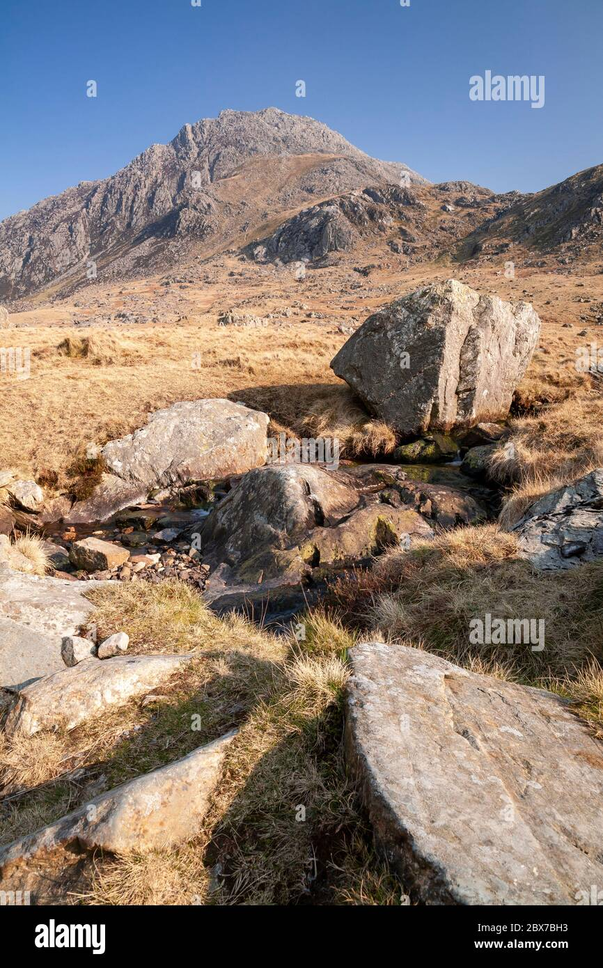 Tryfan Mountain, Snowdonia, North Wales Stock Photo