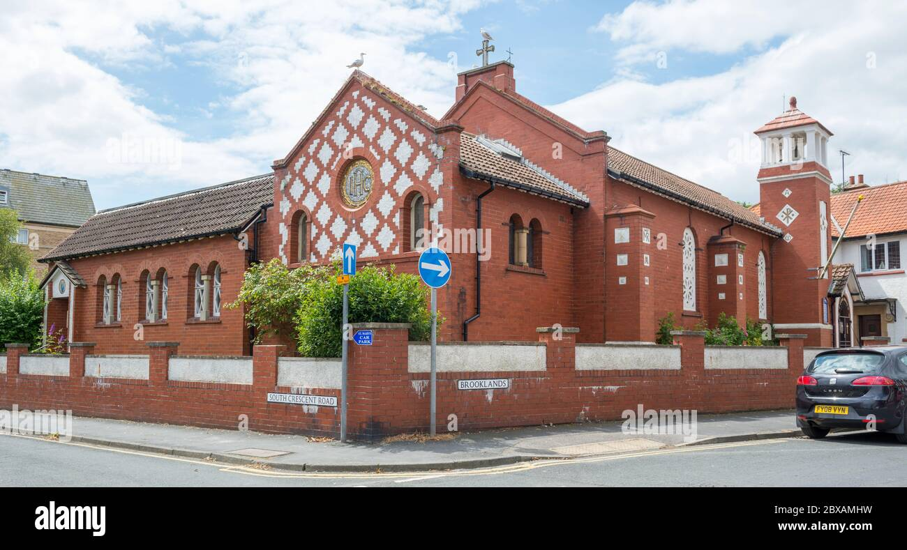 St. Mary's Roman Catholic church in Filey, North Yorkshire Stock Photo