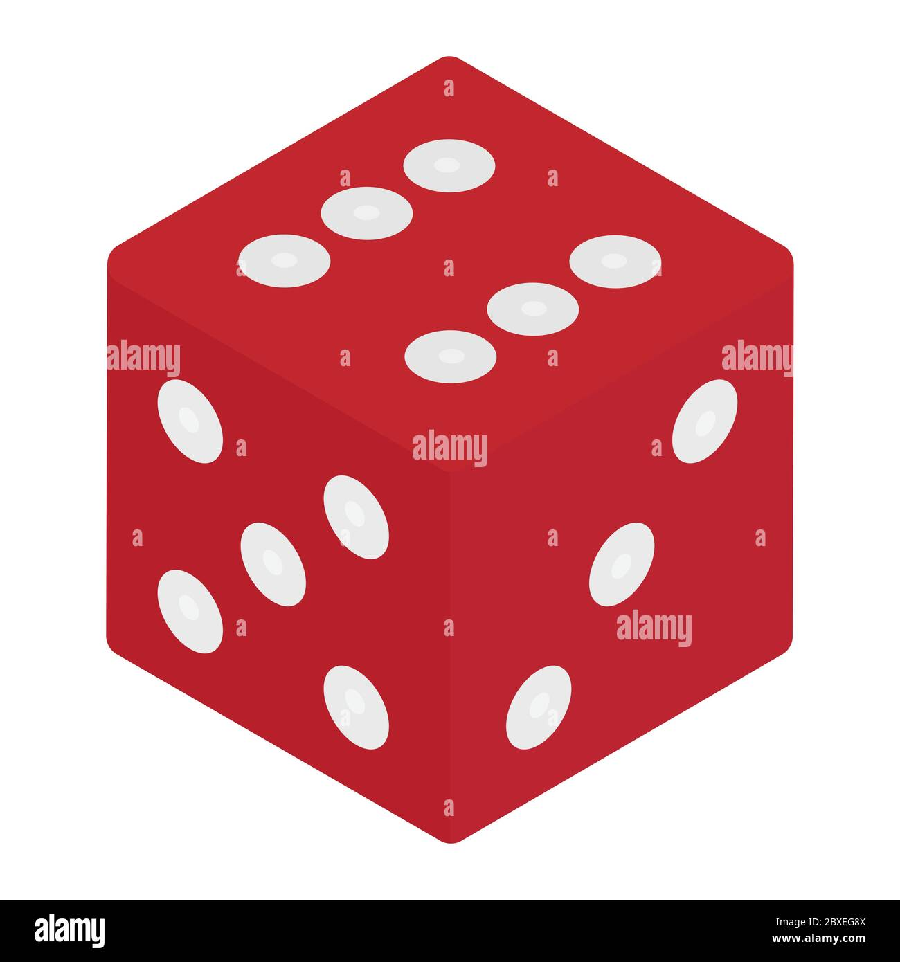 Red Game Dice Isometric View Isolated On White Background Casino Gambling Concept Vector Stock Vector Image Art Alamy