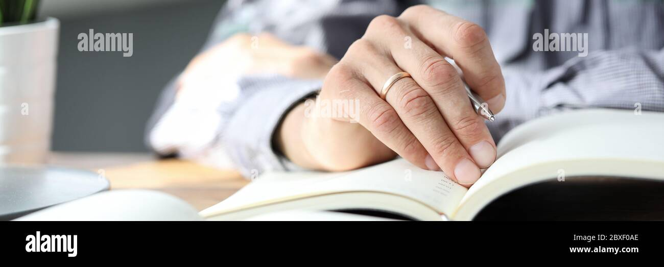 Research and preparation, project implementation. Stock Photo