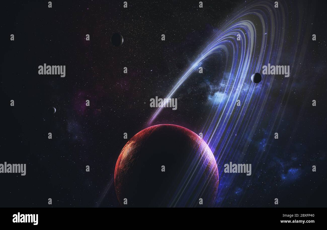 science fiction space wallpaper incredibly beautiful planets galaxies dark and cold beauty of endless universe elements of this image furnished by 2BXFP40