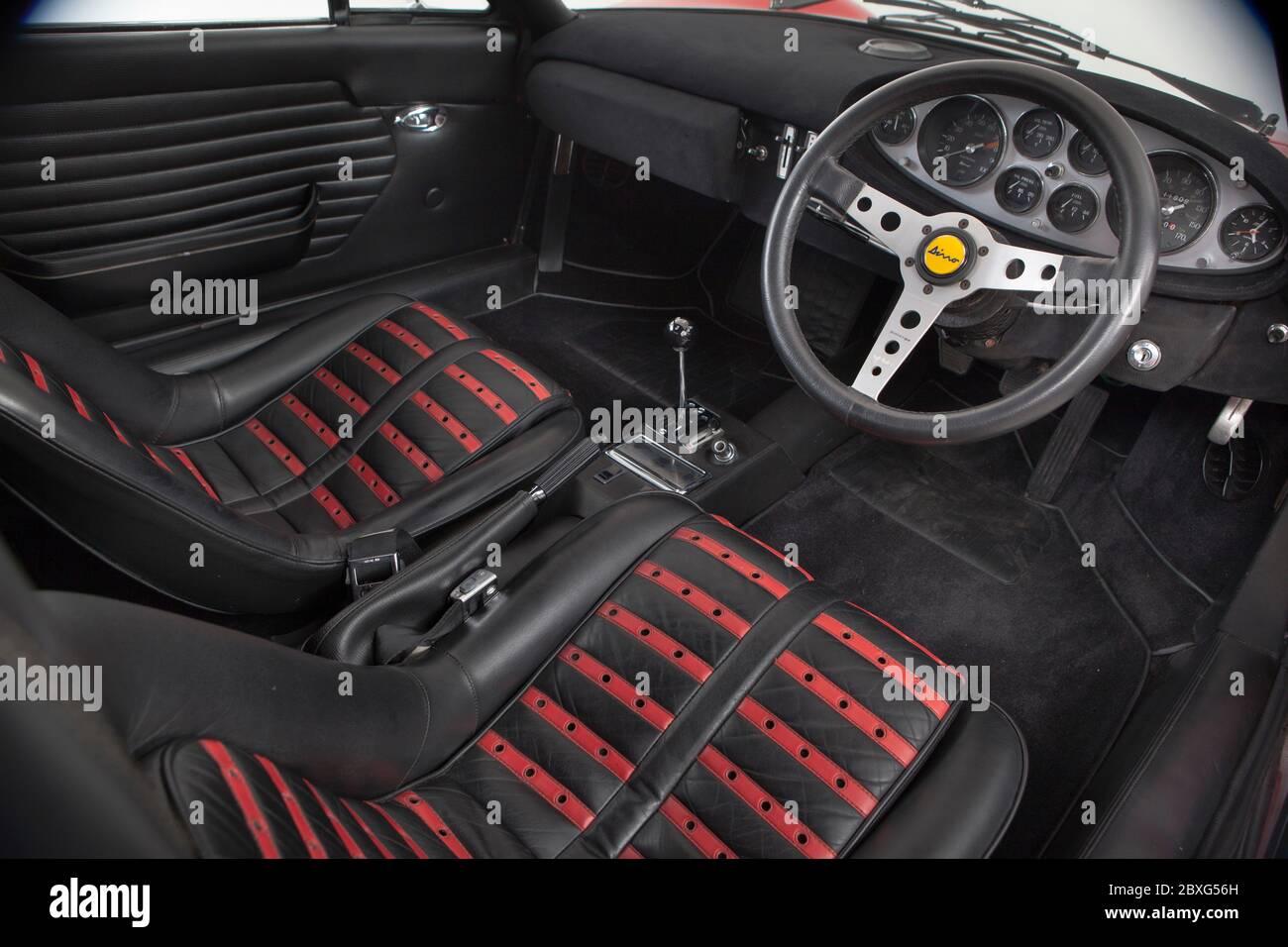 Ferrari Dino 246 Gts Interior Stock Photo Alamy