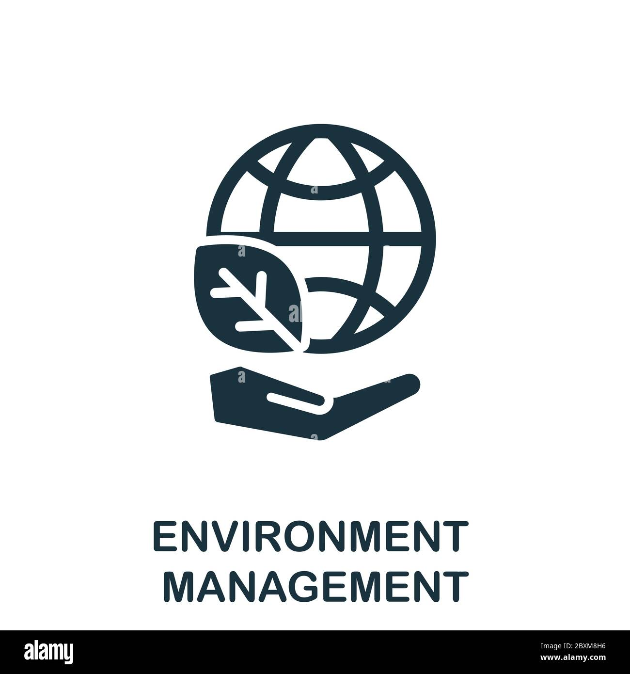 Environment Management icon. Simple element from company management collection. Creative Environment Management icon for web design, templates Stock Vector