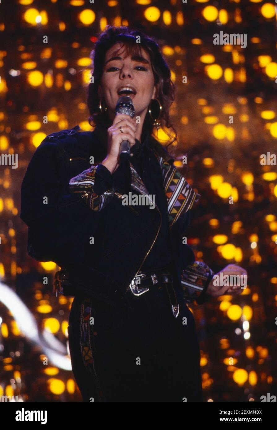 Die Spielbude, Unterhaltungsshow, Deutschland 1982 - 1989, Gaststar: Popsängerin Sandra Cretu Stock Photo