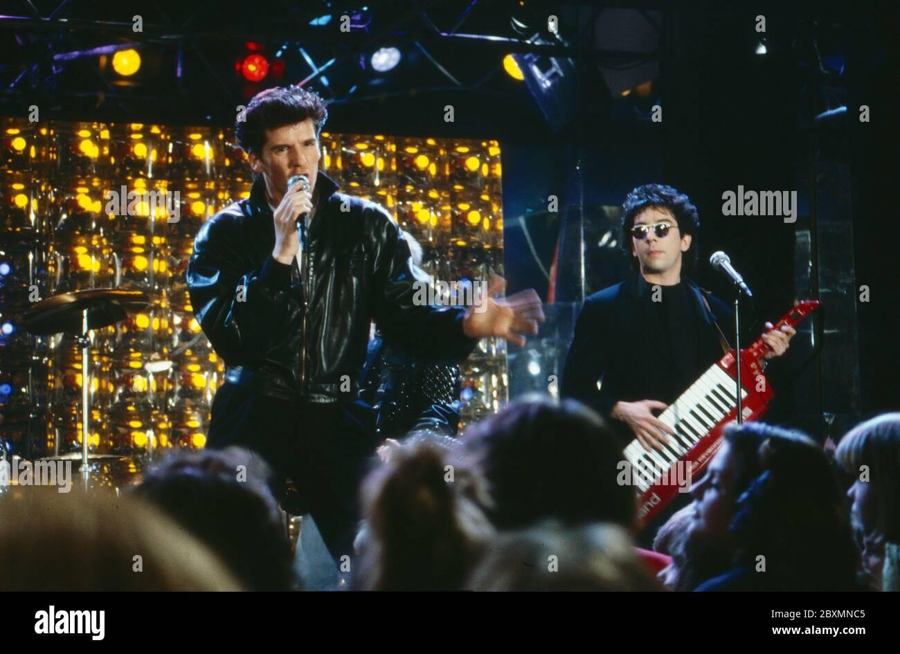 Die Spielbude, Unterhaltungsshow, Deutschland 1982 - 1989, Gaststar: Band (Name folgt) Stock Photo