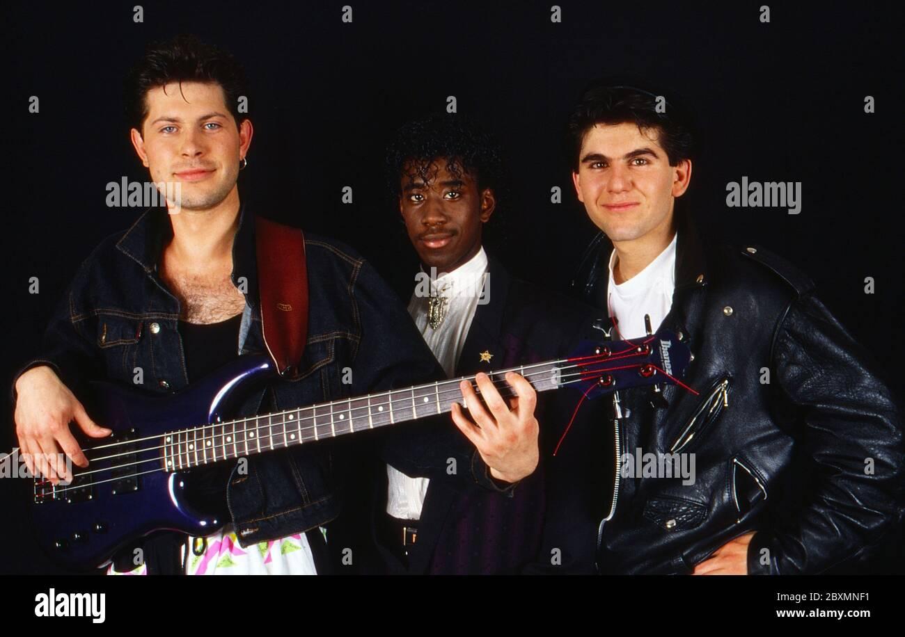 Die Spielbude, Unterhaltungsshow, Deutschland 1982 - 1989, Gaststar: Band Joy Stick Stock Photo