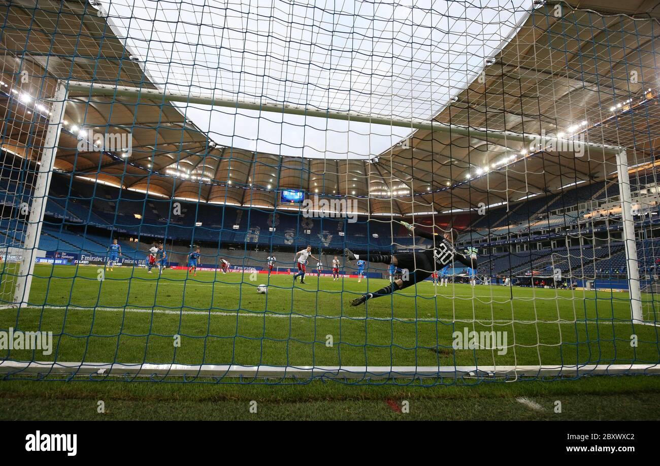 Hamburg Germany 08th June 2020 Football 2nd Bundesliga 30th Matchday Hamburger Sv Holstein Kiel In The