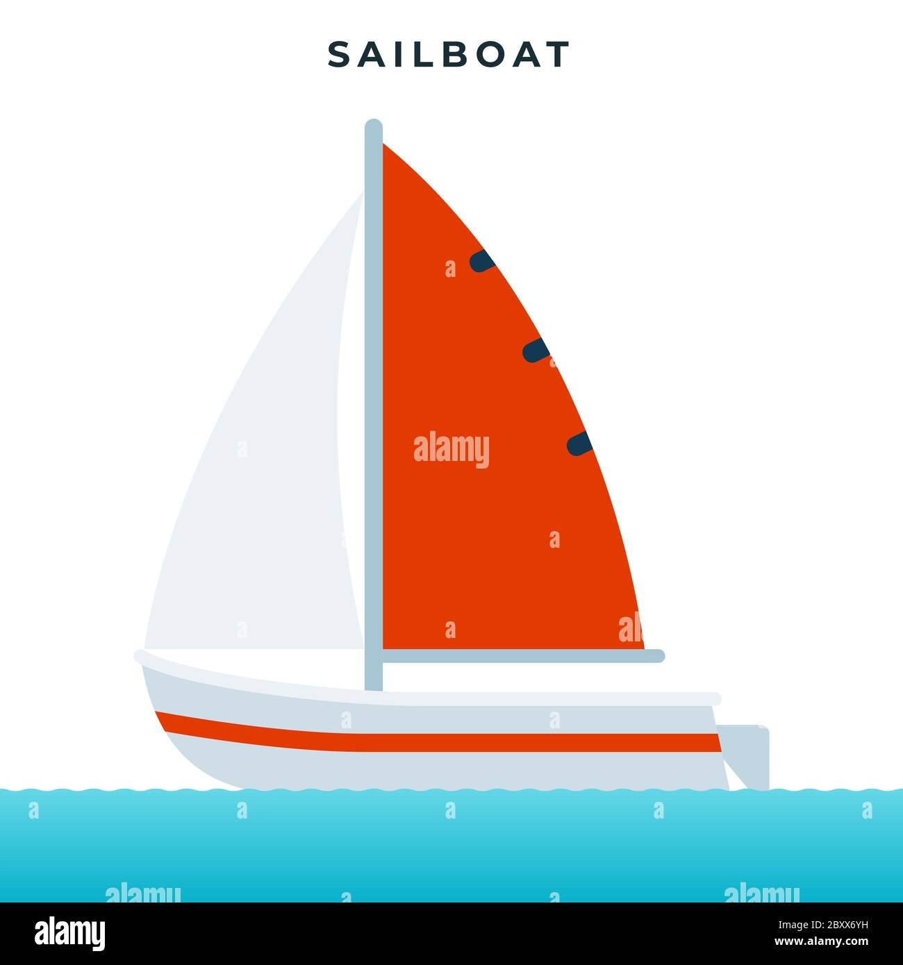 Sailboat Pleasure Boat Using Sails As The Main Means Of Propulsion Vector Icon Flat Isolated Stock Vector Image Art Alamy