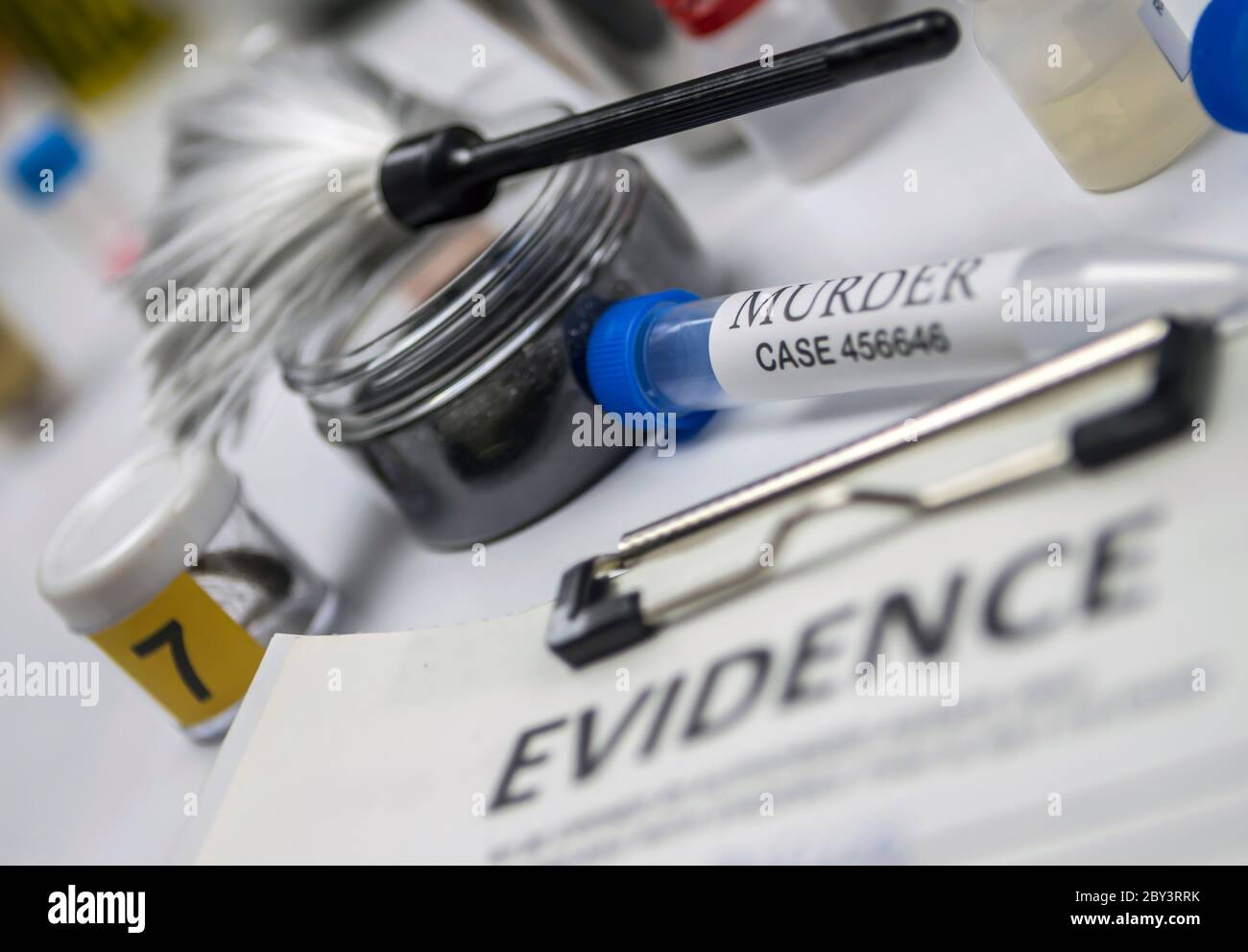 Various Laboratory Tests Forensic Equipment Conceptual Image Stock Photo Alamy