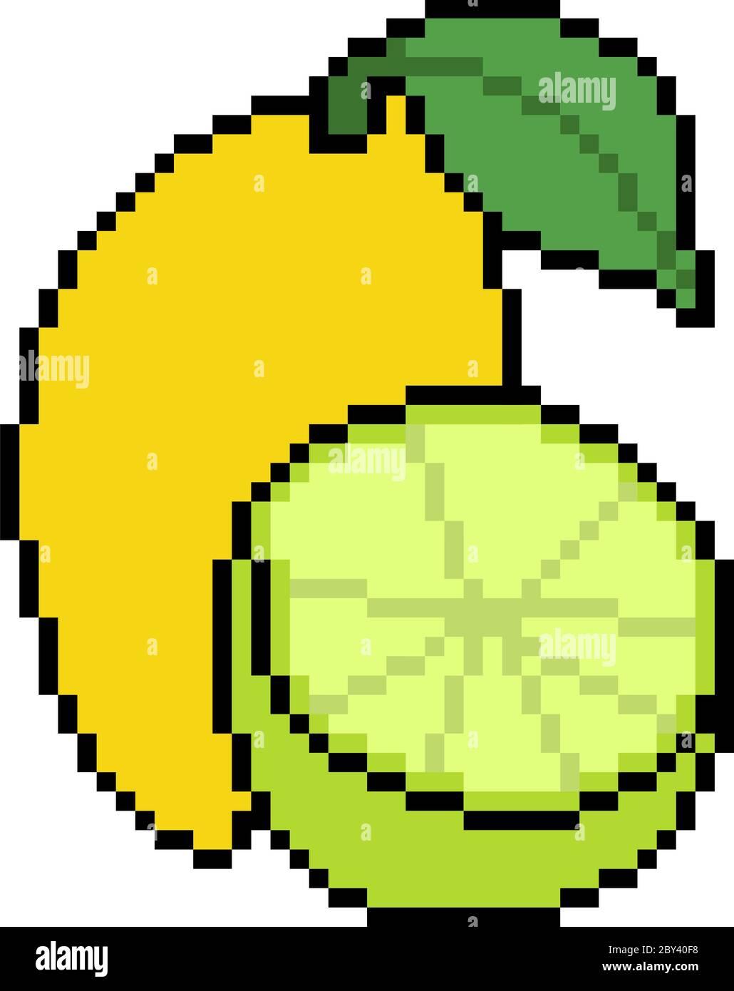 Vector Pixel Art Fruit Isolated Stock Vector Image Art Alamy