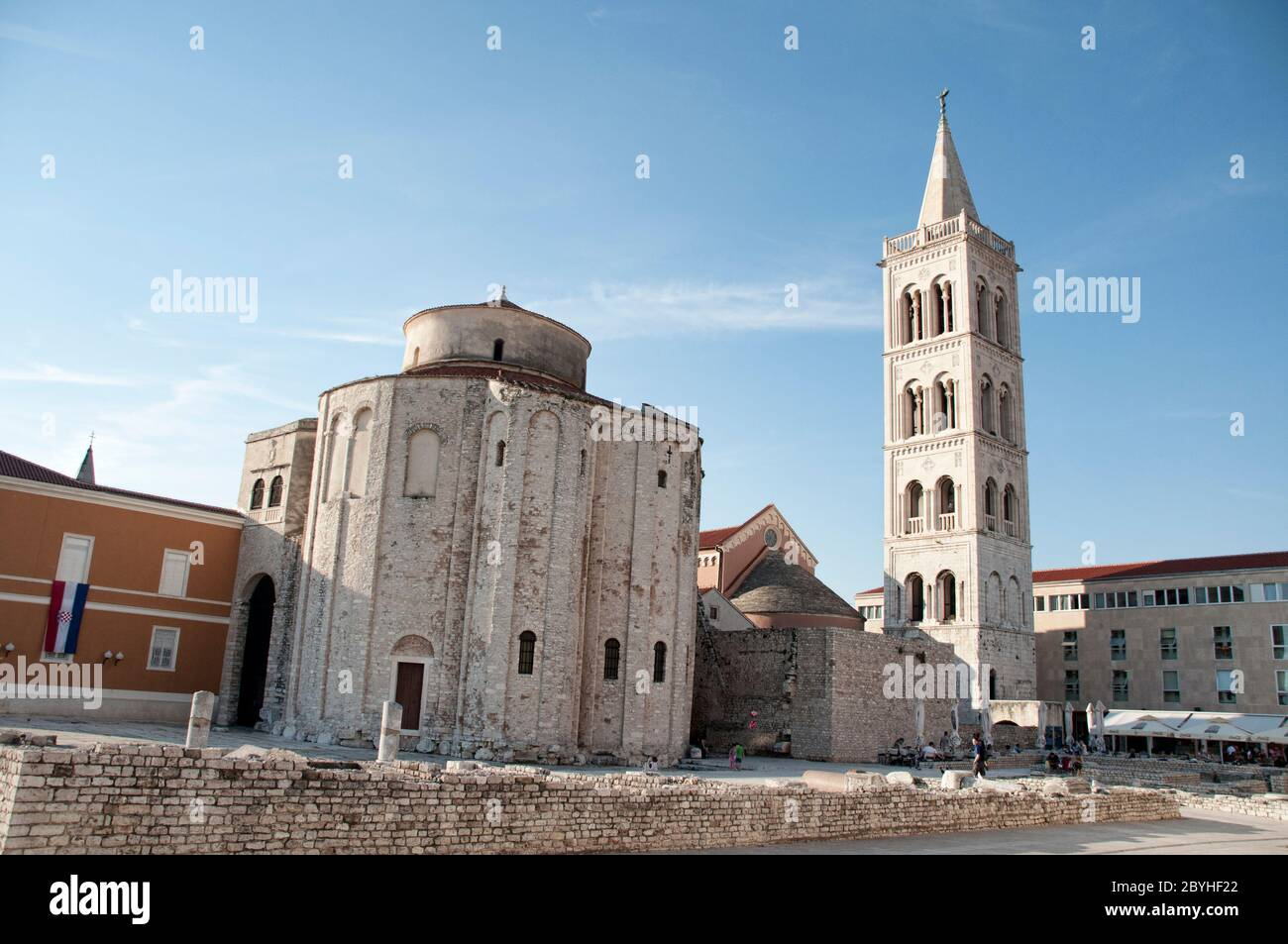 The Church and belfry of St. Donatus is a church located in Zadar, Croatia Stock Photo