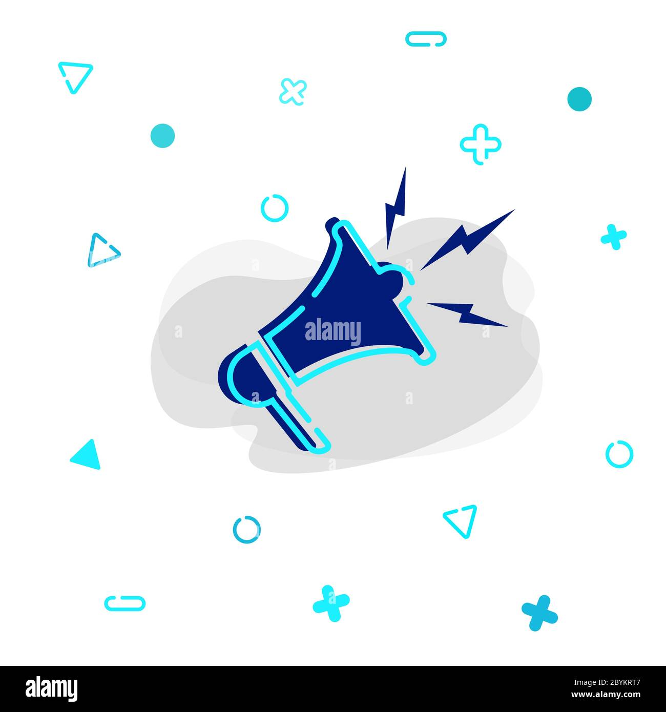 Megaphone or loudspeaker icon in blue color isolated on white background. vector EPS 10. Stock Vector
