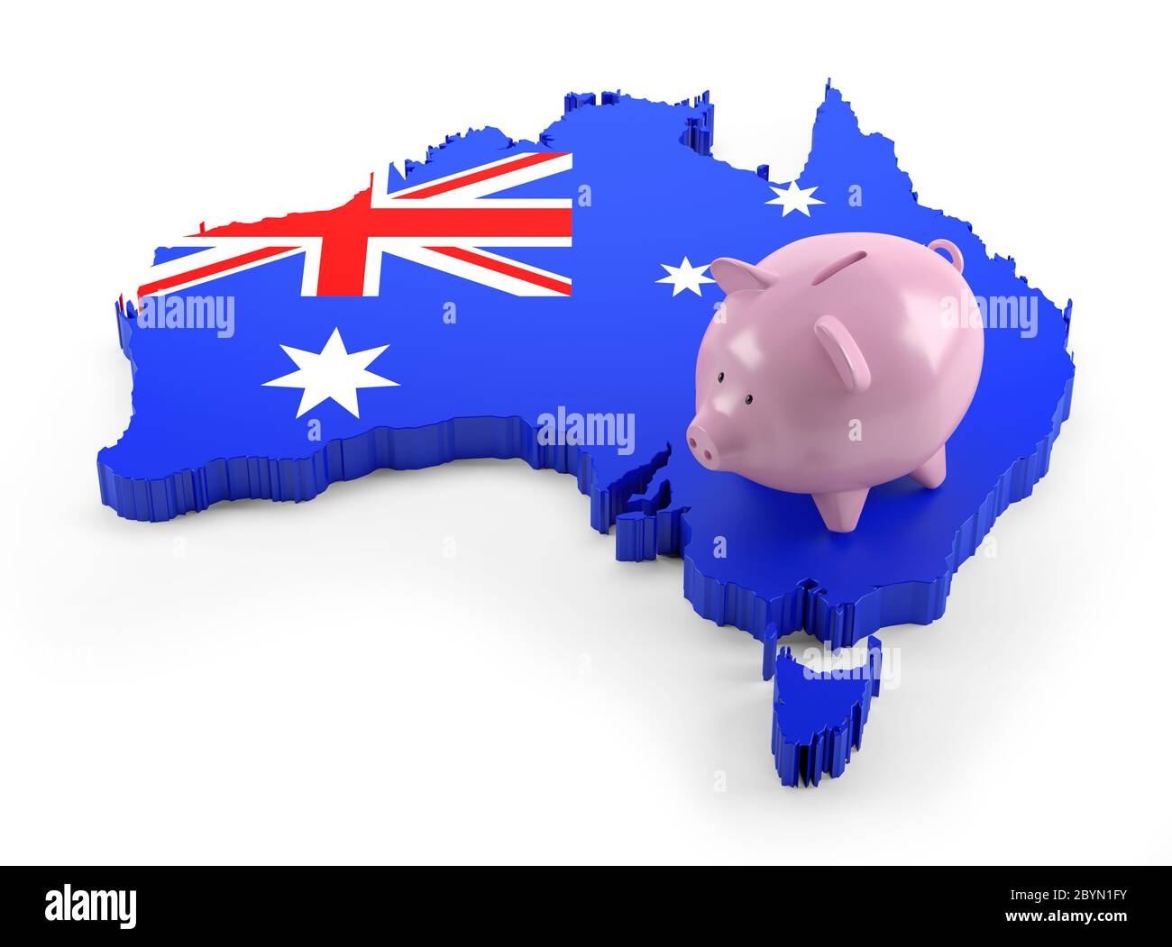 Australia Flag Map High Resolution Stock Photography And Images Alamy