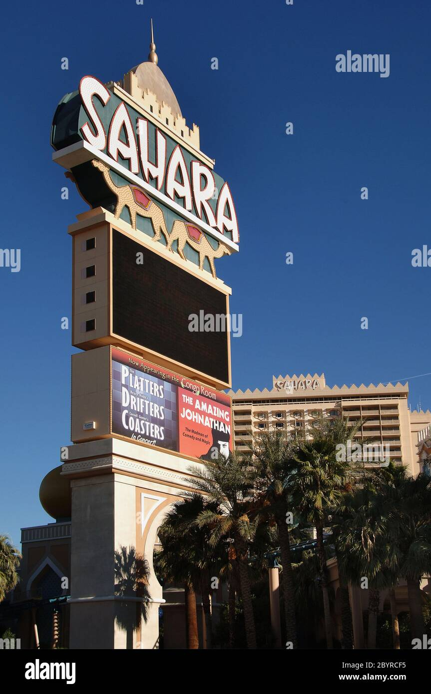 The Sahara Hotel Las Vegas High Resolution Stock Photography And Images Alamy