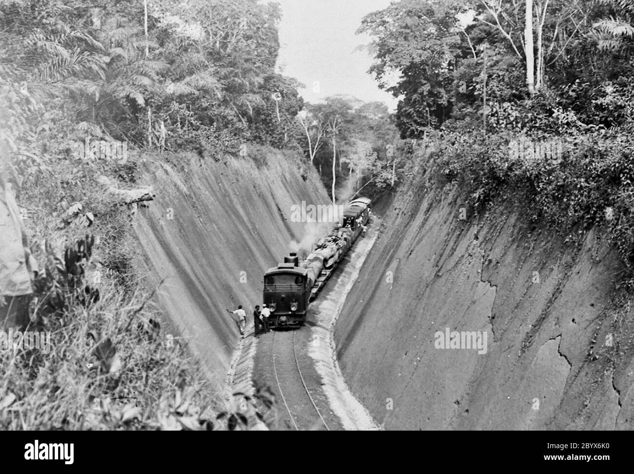 The Northern Railway in the German colony of Cameroon ca. 1908-1919 Stock Photo