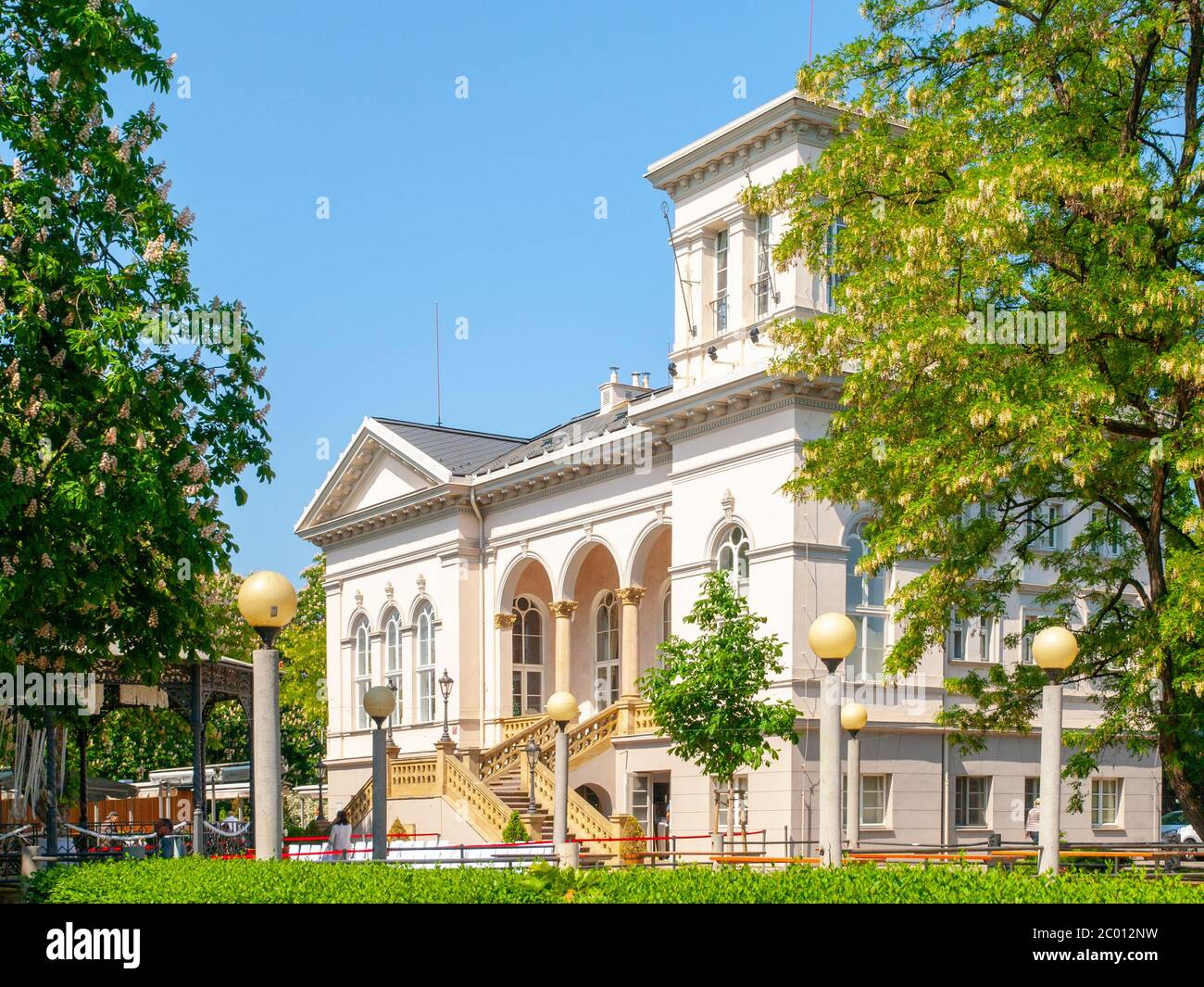 Letna Chateau, aka Letensky zamecek, in Letna park, Prague, Czech Republic Stock Photo