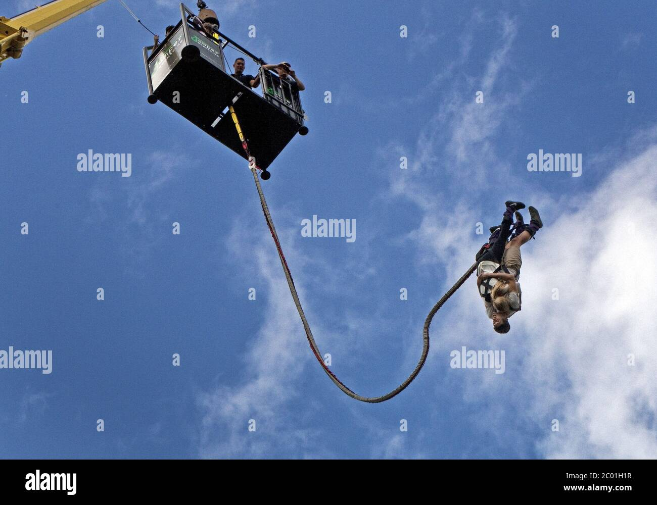 Bungee Jumping, Oberhausen, Germany Stock Photo