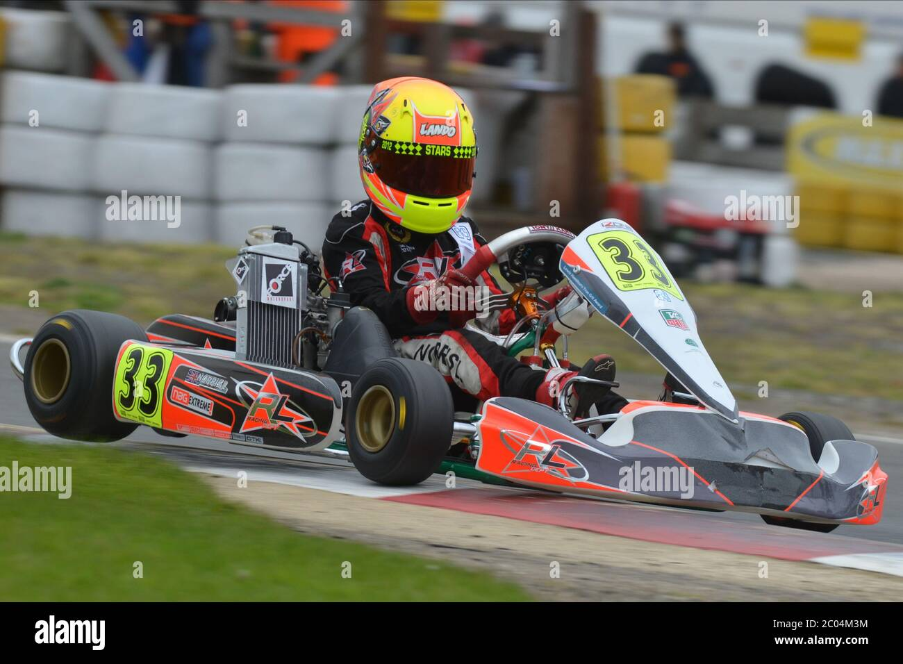 Lando Norris's karting career 2012. Stock Photo