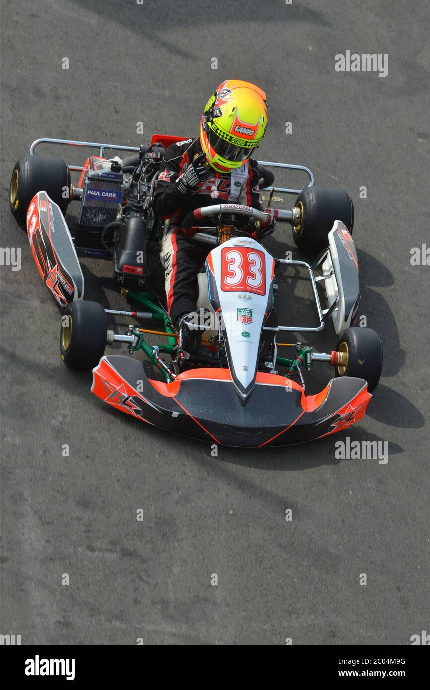Lando Norris's karting career 2012. Stock Photo