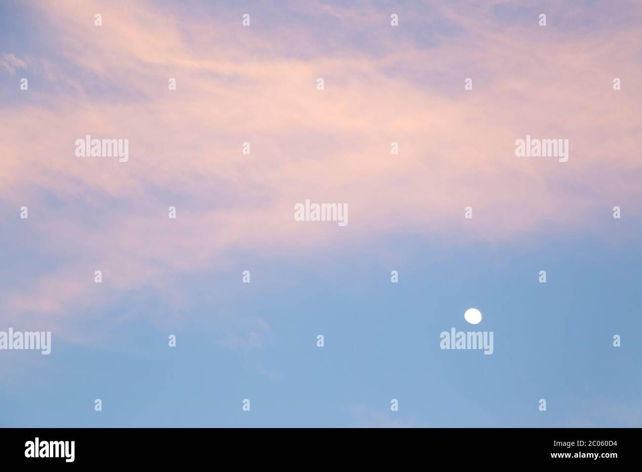 Twilight Blue Purple Sunset Sky Background Stock Photo Alamy