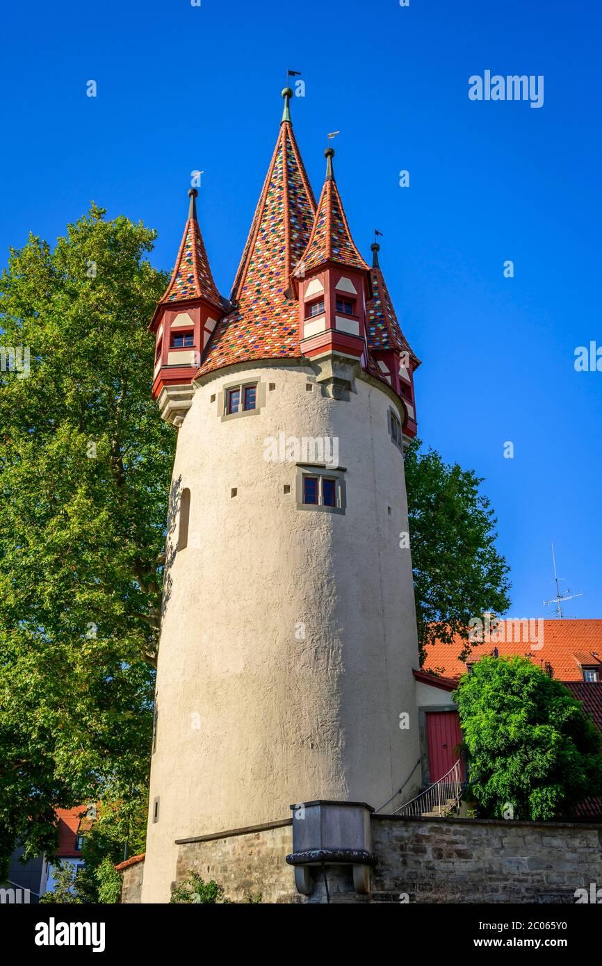 Diebsturm, Lindau Island, Lindau on Lake Constance, Swabia, Germany Stock Photo