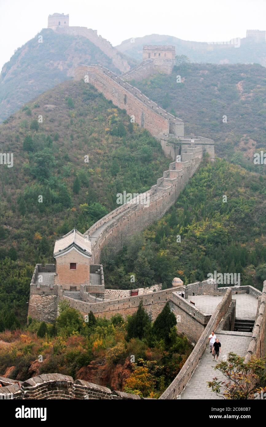 The Great Wall of China from Jinshanling to Simatai near Beijing, China, Asia. 28/9/2011. Photograph: Stuart Boulton/Alamy Stock Photo