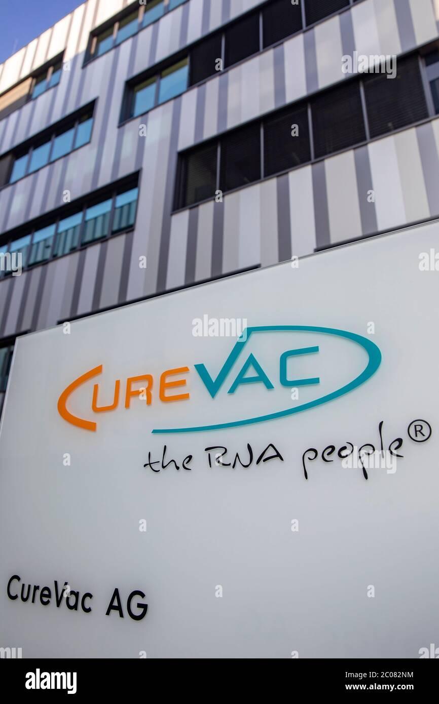 Hoffnung auf den Impfstoff gegen das Corona-Virus vom Tübinger Pharmaunternehmen CureVac AG. Tübingen, 19.04.2020 Stock Photo