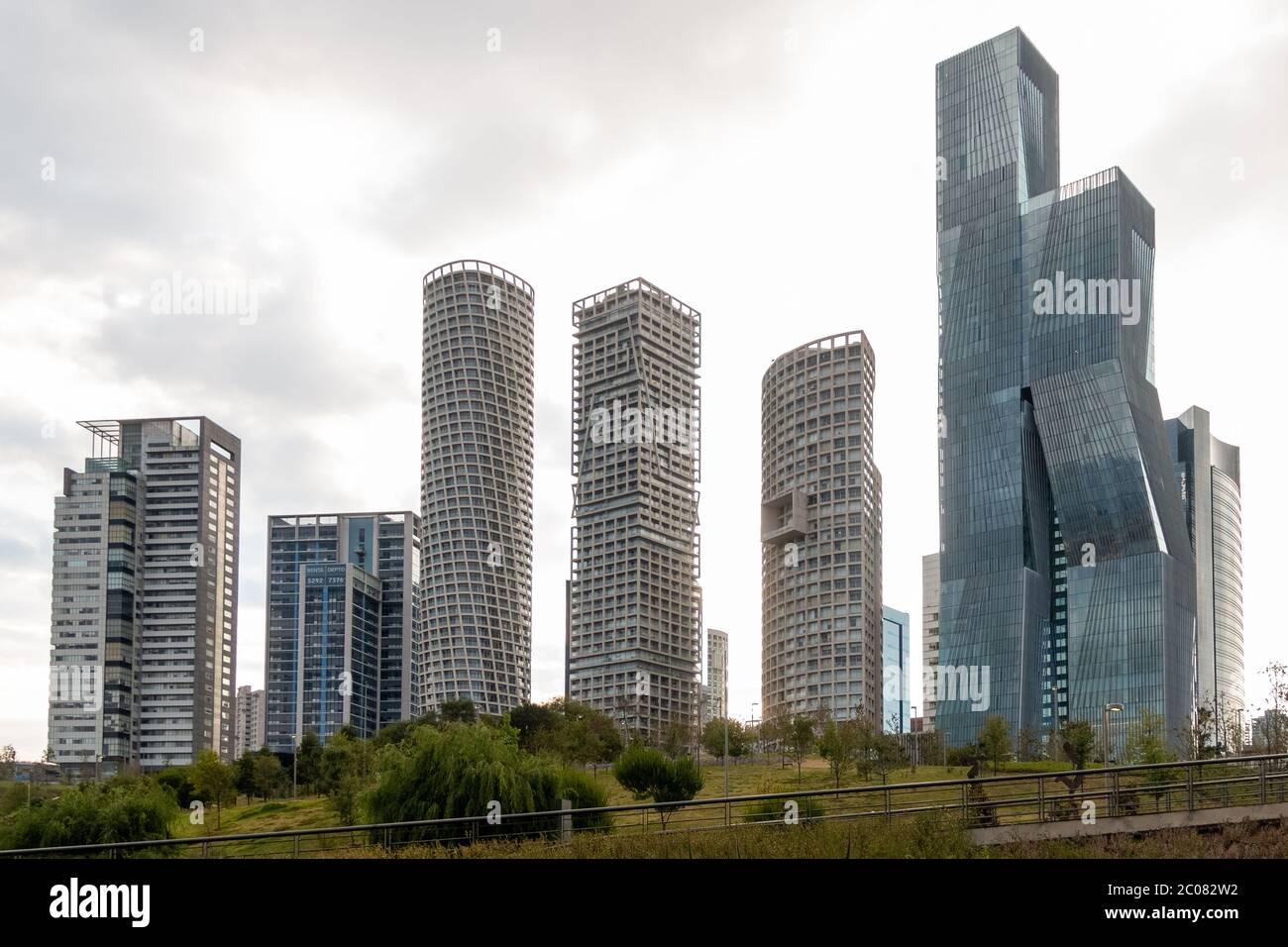La Mexicana Santa Fe Mexico City June 9 2020 Office And Apartment Buildings In Mexico City Stock Photo Alamy