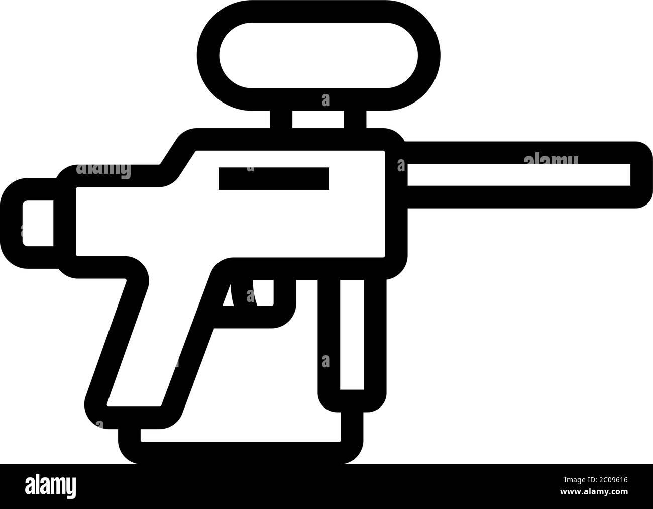 Paintball Gun Icon Vector Outline Illustration Stock Vector Image Art Alamy