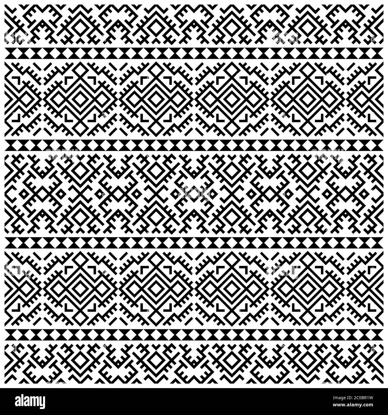 Seamless Ethnic Pattern Persian Design Vector Illustration Of Ornament Pattern Design In Black White Color Stock Photo Alamy