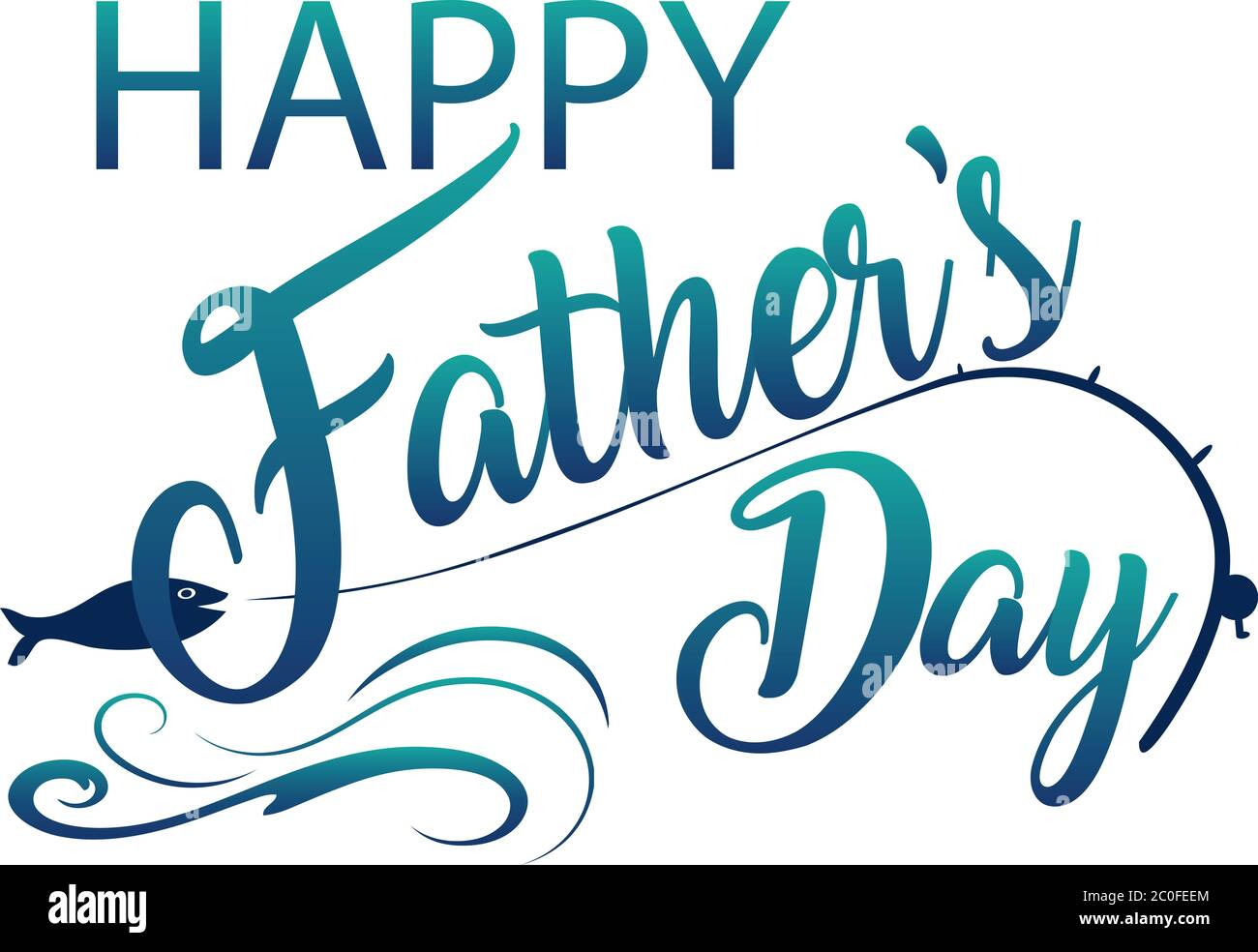 Happy Father S Day Fishing Graphic Stock Photo Alamy