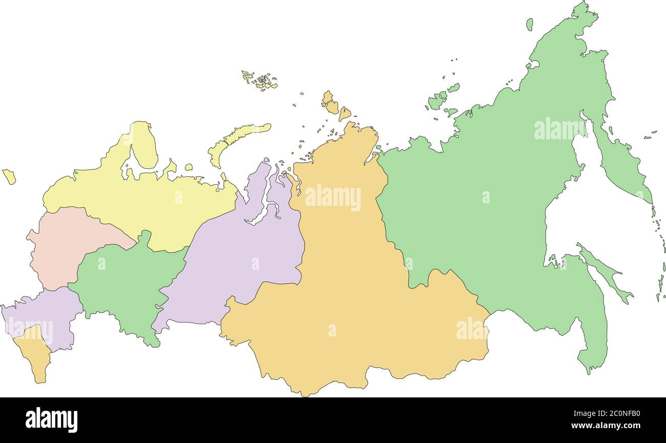 Russia Political Map High Resolution Stock Photography And Images Alamy