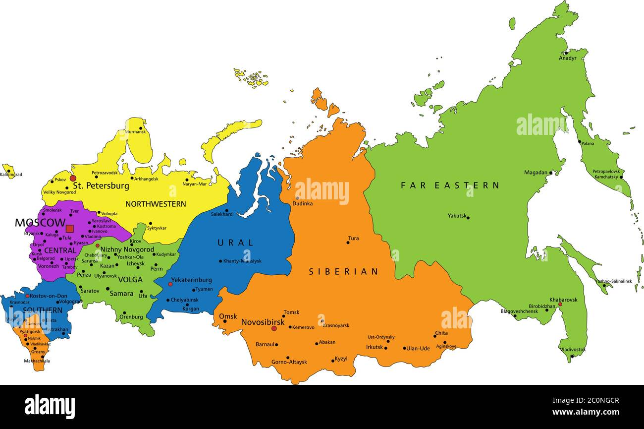 Picture of: Russia Political Map High Resolution Stock Photography And Images Alamy