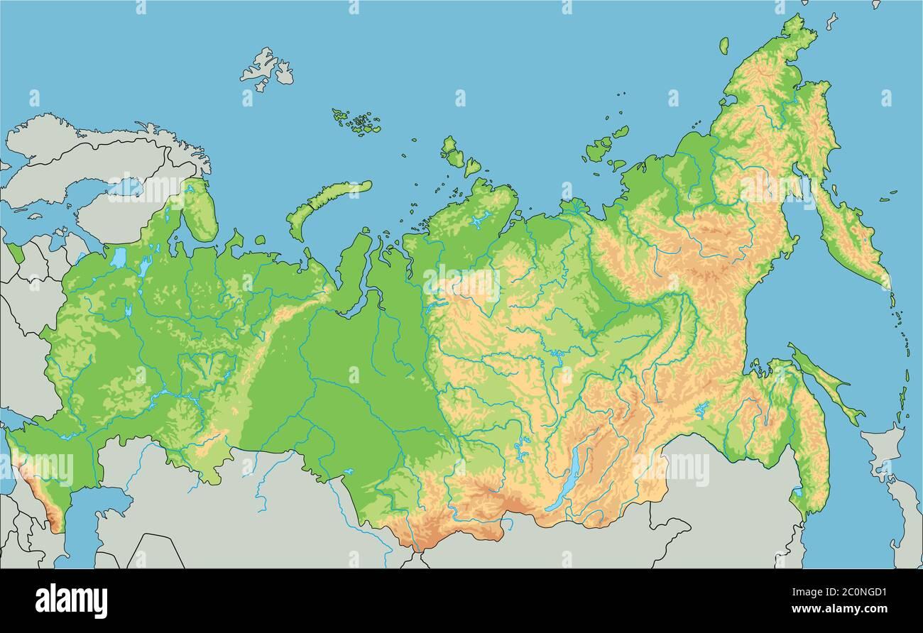 Cartina Siberia Russia.Siberia Map High Resolution Stock Photography And Images Alamy