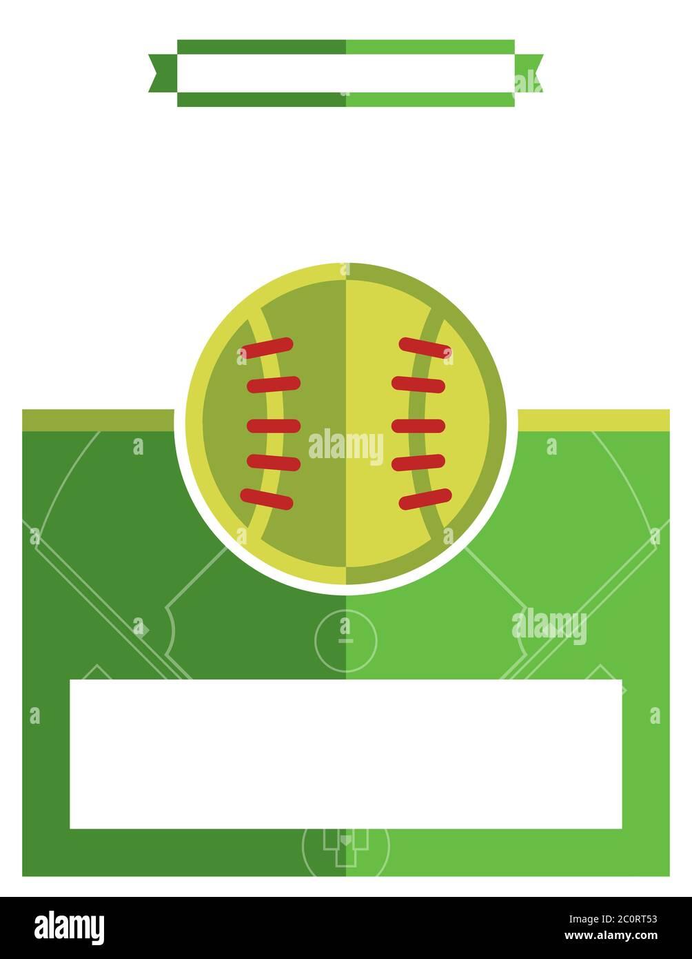 Softball Game Flyer Illustration Stock Photo