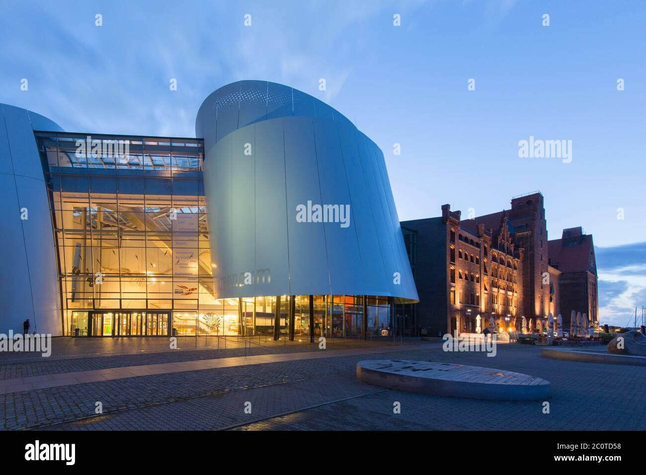 Ozeaneum, public aquarium in the city Stralsund, Mecklenburg-Vorpommern, Germany Stock Photo