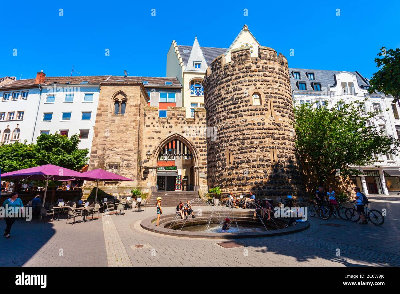 BONN, GERMANY - JUNE 29, 2018: Sterntor or star gate tower in Bonn city, Germany Stock Photo