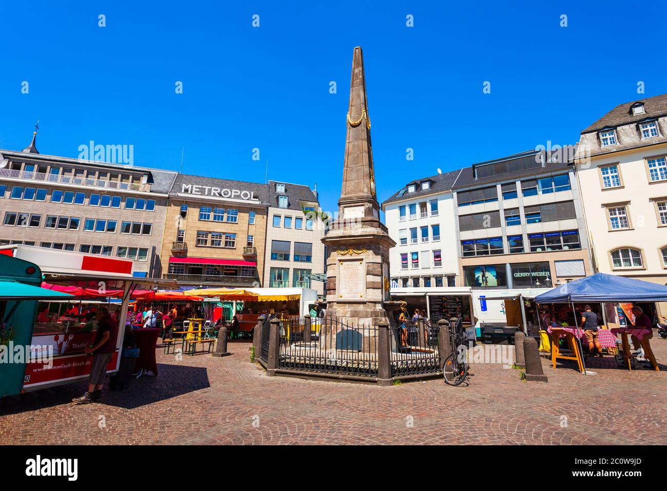 BONN, GERMANY - JUNE 29, 2018: Market square in the centre of Bonn city in Germany Stock Photo