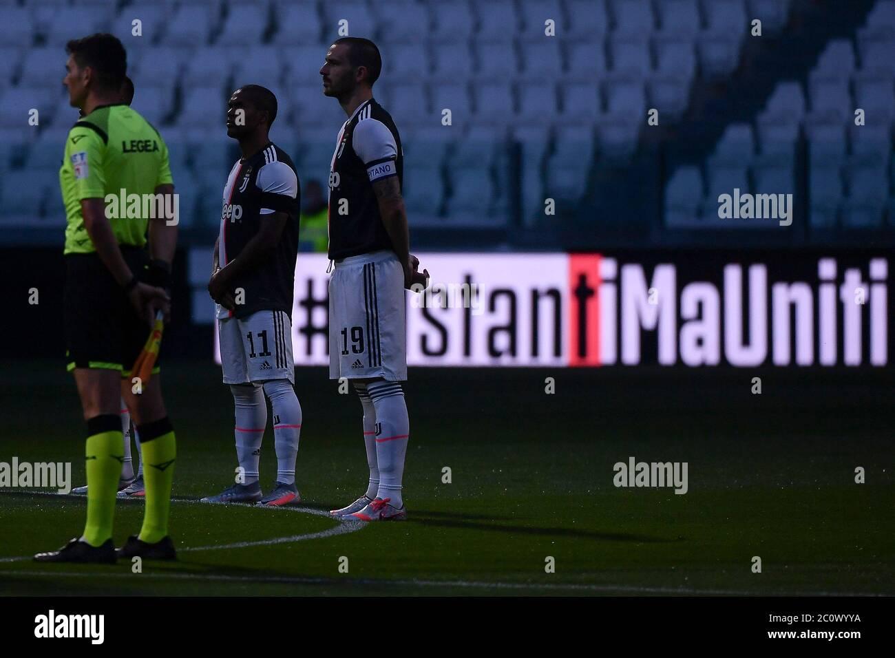 turin italy 12th june 2020 turin juventus milan italian cup 2019 2020 at juventus stadium behind alamy