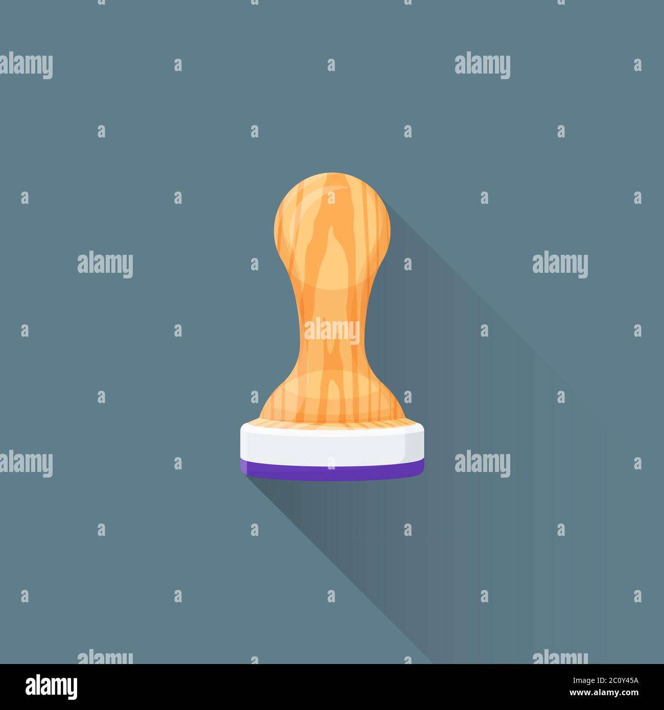 vector flat office stamp tool illustration icon Stock Photo