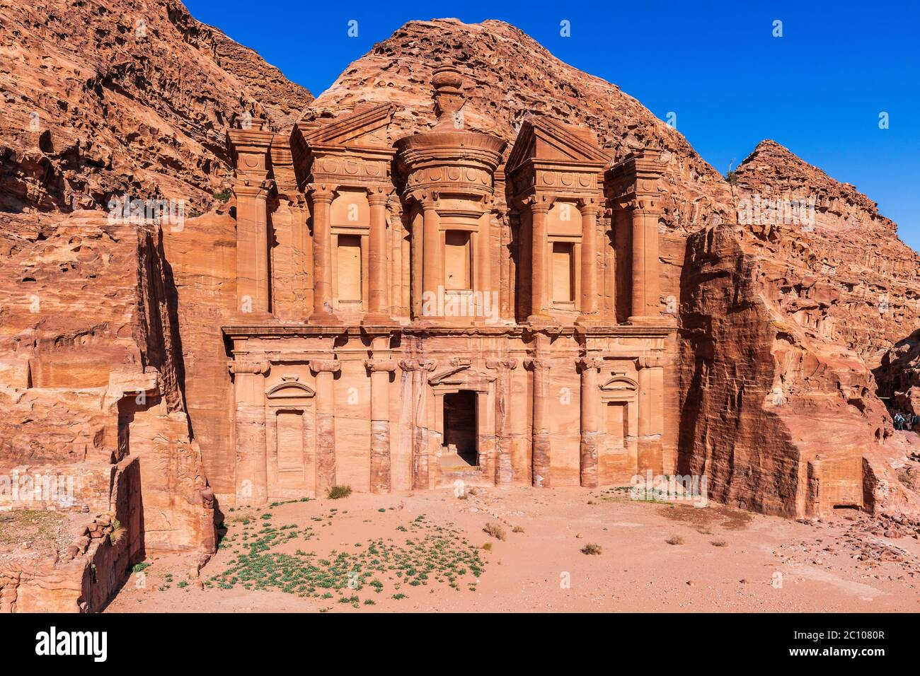 Petra, Jordan. El Deir (The Monastery) in Petra, the capital of the ancient Nabatean Kingdom. Stock Photo