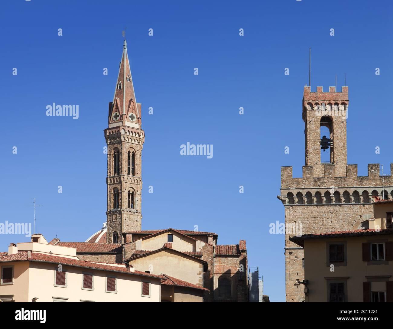 Italy. Florence. Badia Fiorentina- an abbey and church Stock Photo
