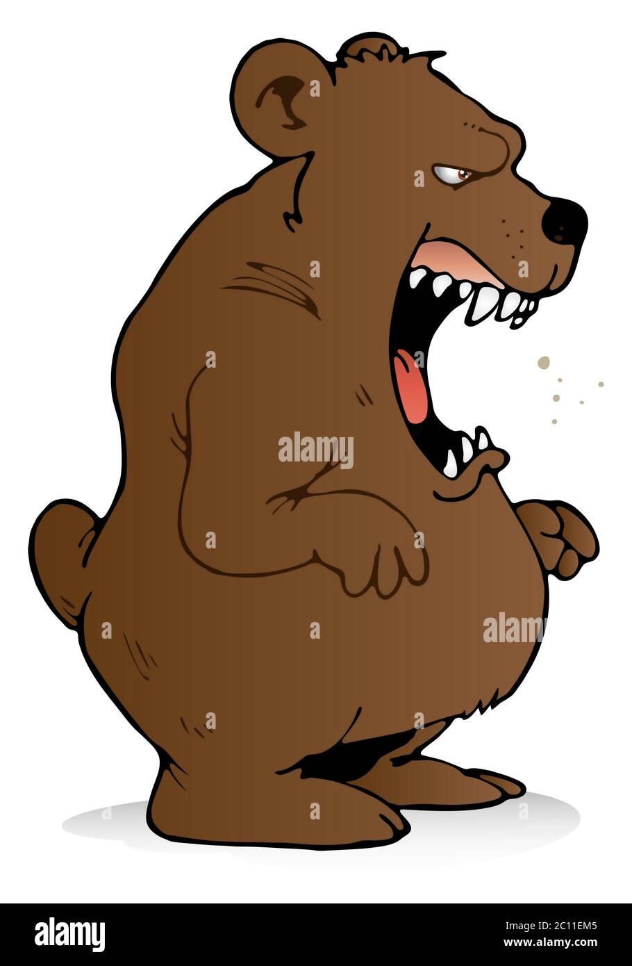 Vector Illustration - Scary bear. EPS Clipart gg61136276 - GoGraph