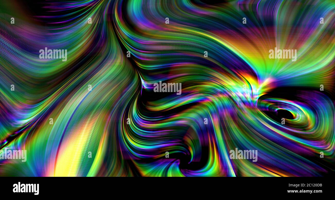 colorful dynamic trippy psychedelic background Stock Photo