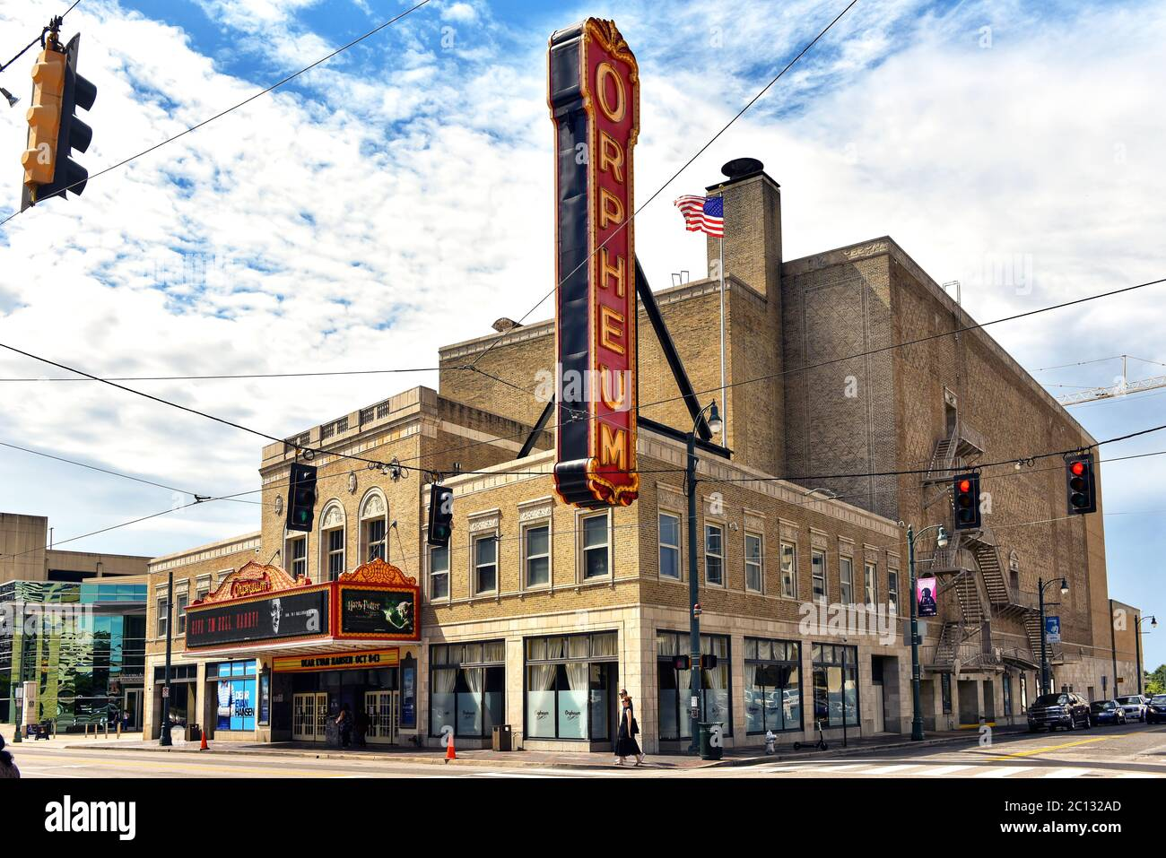 Memphis, TN, USA - September 24, 2019: The Orpheum Theater at South Main and Beale Streets was built in 1928 and is on the National Register of Histor Stock Photo