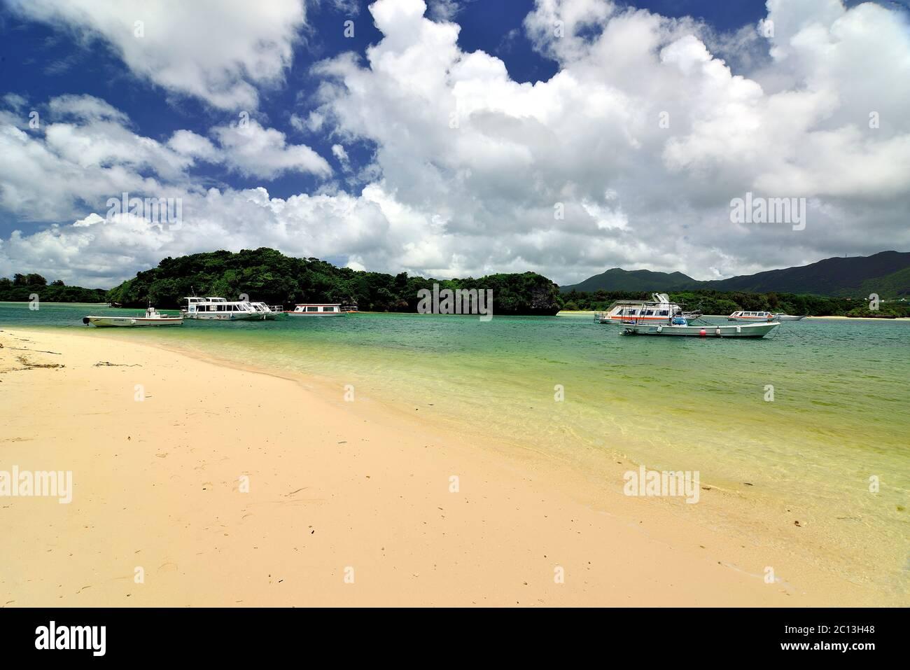 Kabira Bay, Beach,  Rarelly Empty, Ishigaki, Yahema Islands, Okinawa, Japan Stock Photo